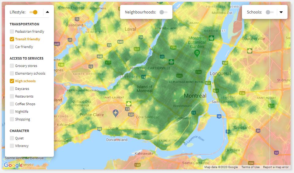 Screenshot of Local Maps